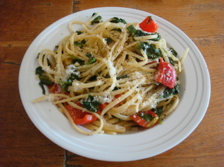In the Kitchen: Pasta with Green Garlic Take Two | Sunstone Farm and ...